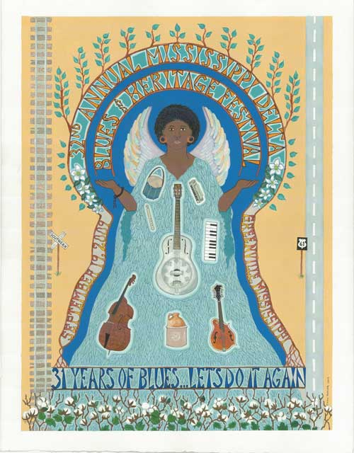Mississippi Delta Blues and Heritage Festival Poster