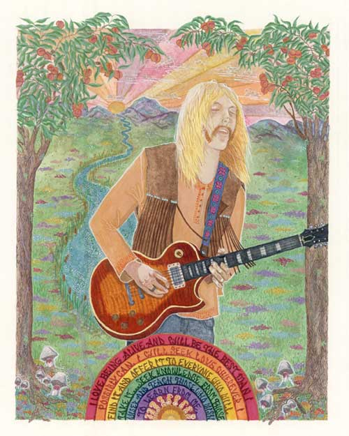 Portrait Of Duane Allman